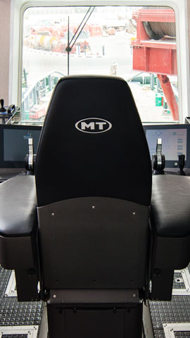 MT DP systems operator chair joystick