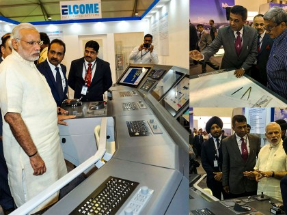 Elcome welcomes Indian Prime Minister to its stand at IFR