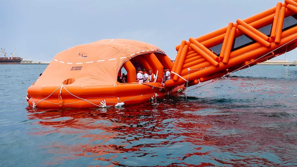 Elcome International Marine evacuation system life raft service