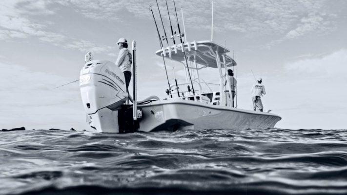 ELCOME Raymarine saltwater fishing powerboat