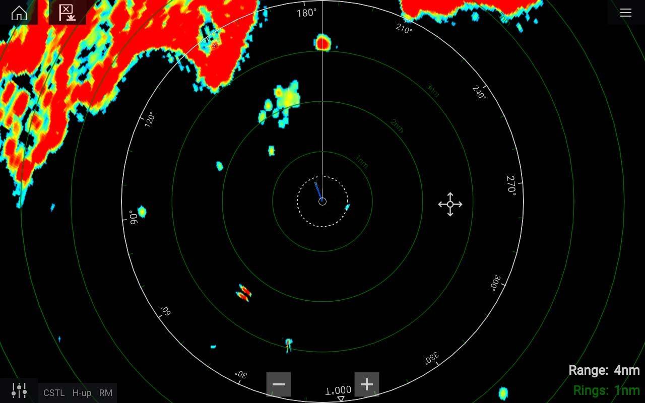 ELCOME Raymarine Magnum Marine Radar Bird Mode
