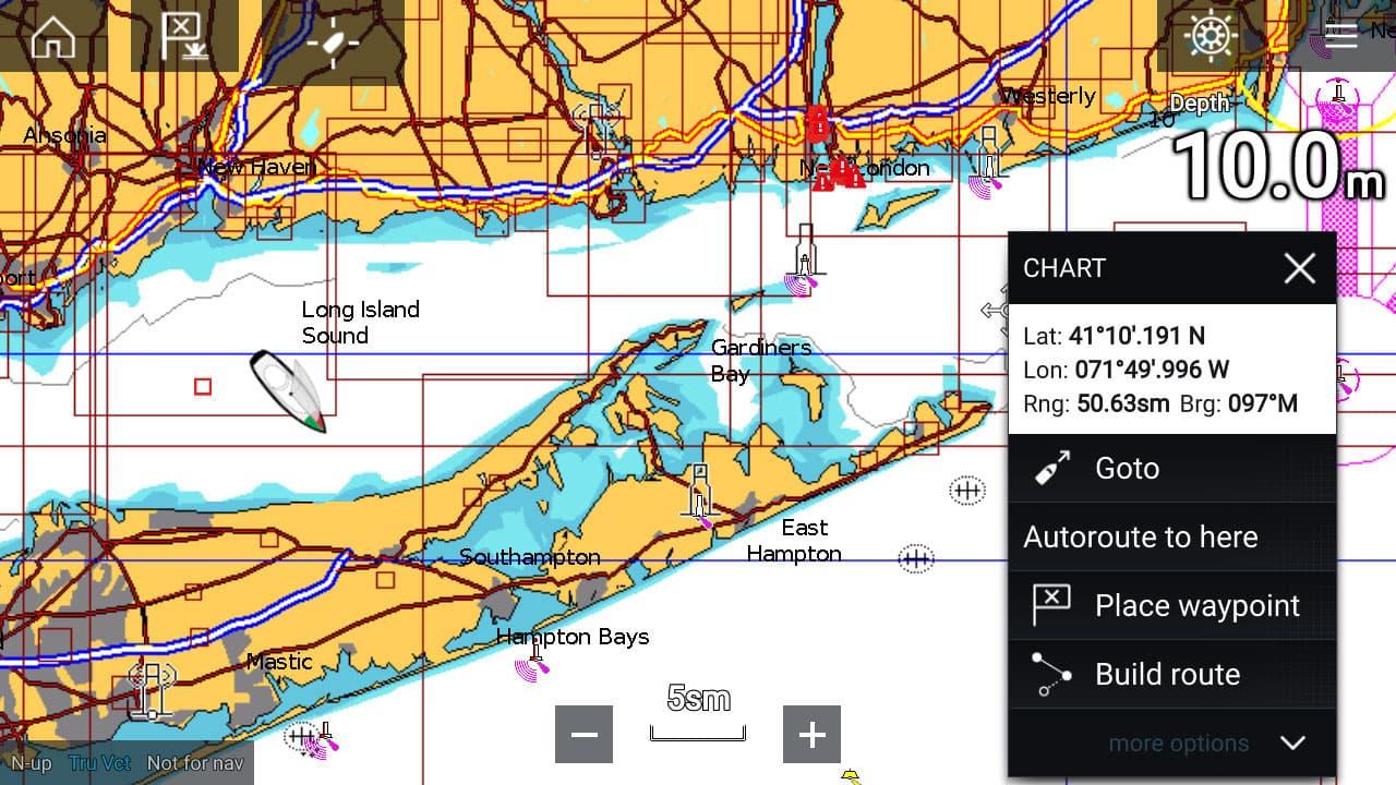 ELCOME Raymarine Navionics - Dock-to-dock Autorouting Screenshot