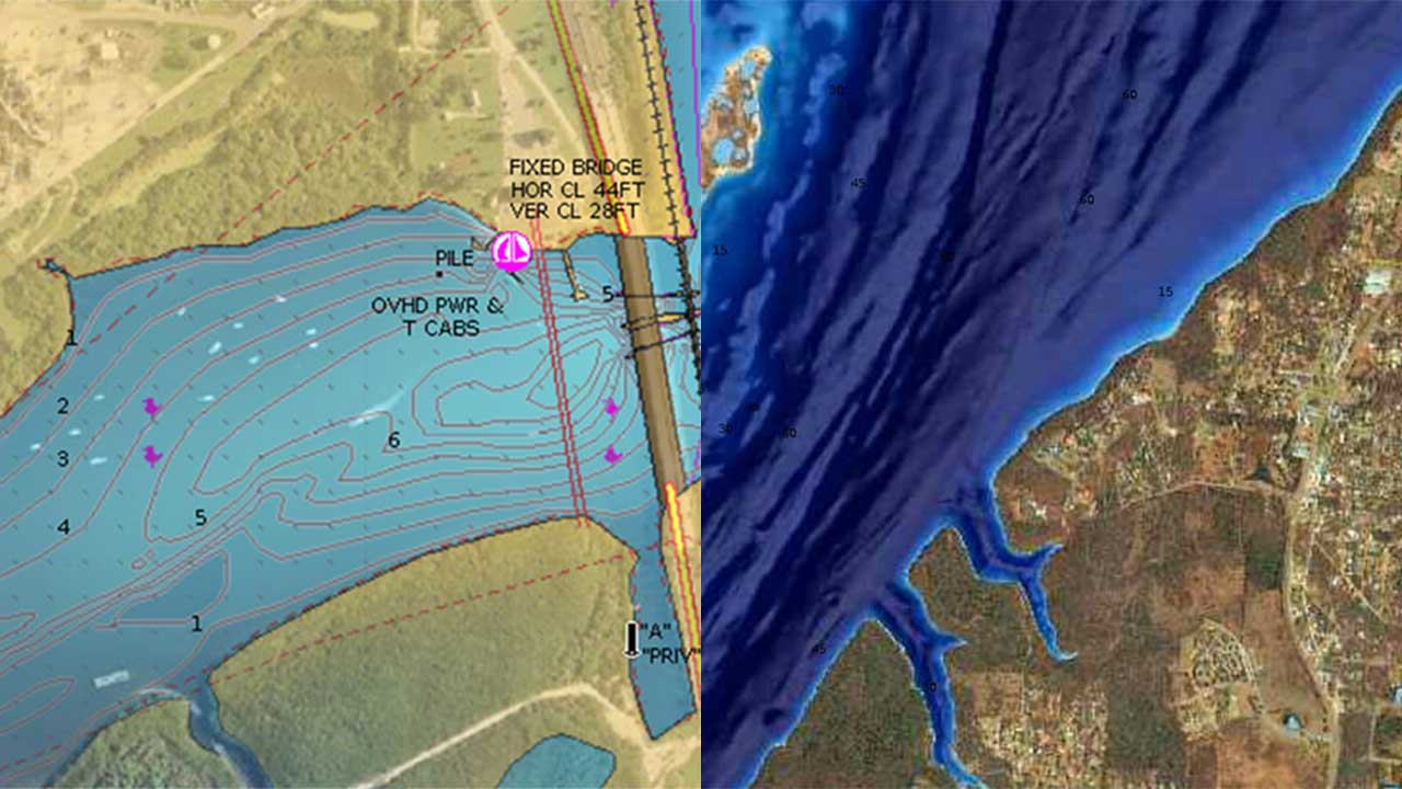 ELCOME Navionics - Platinum+ Satellite Overlay and SonarChart Shading feature