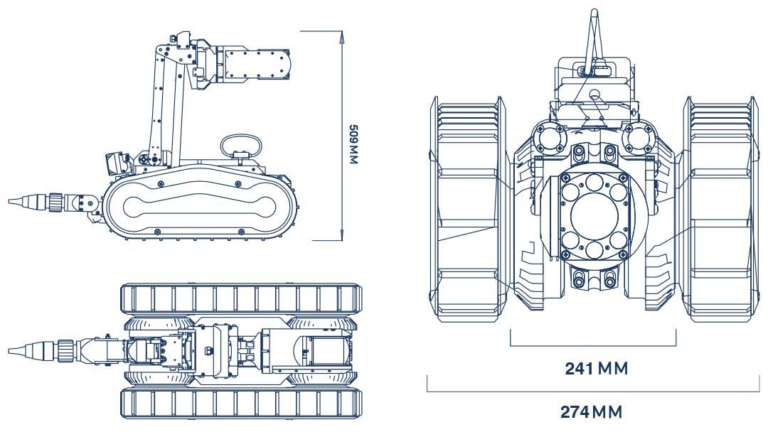ELCOME Deep Trekker DT340 Pipe Crawler - Durable construction