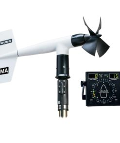 ELCOME Young Anemometer 05106 Wind Monitor MA with 06206 Marine Wind Tracker Display