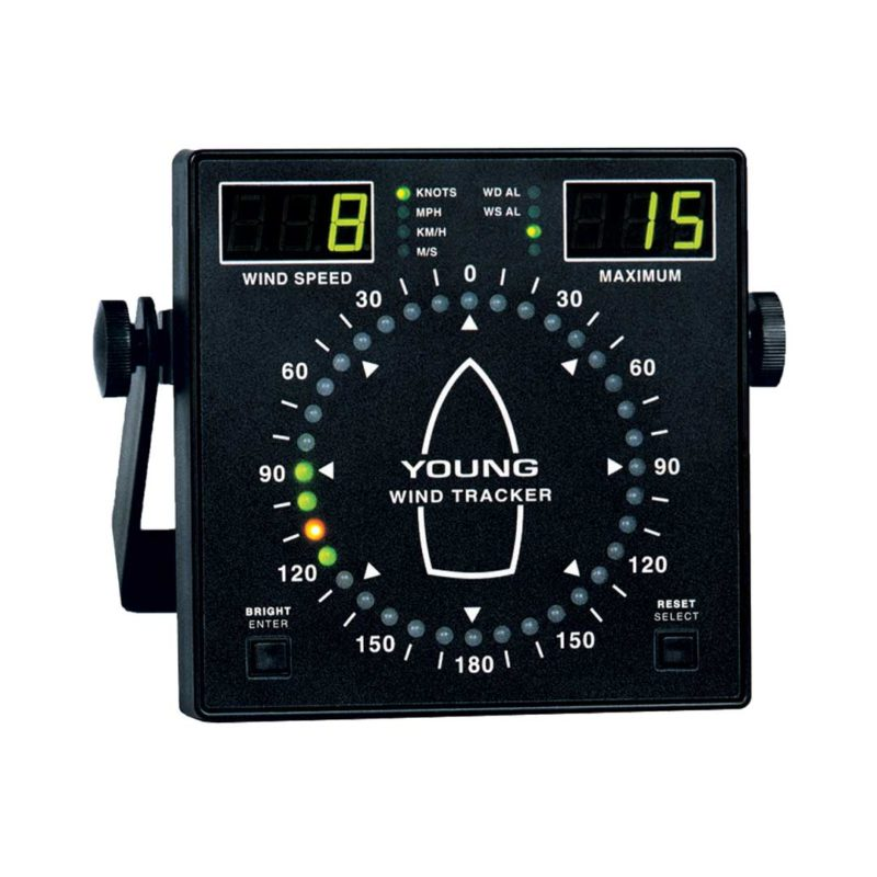 ELCOME Young Anemometer Model 06206 Marine Wind Tracker Display