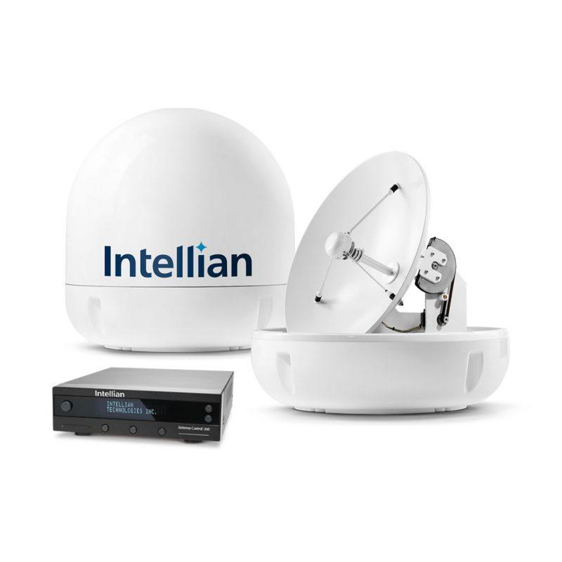 ELCOME Intellian i6P Marine Satellite TV Antenna System - Group